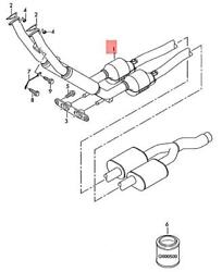 Genuine Exhaust Pipe 1k0254507dx