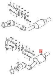 Genuine Exhaust Pipe Left Front 8e0254503tx