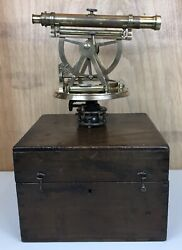 Rare Antique And039w And T Gilbert - Londonand039 Surveying Theodolite C1825 Cased