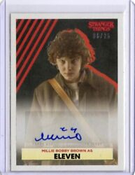 Stranger Things Collection Autograph Card E-c Millie Bobby Brown / Eleven 06/25