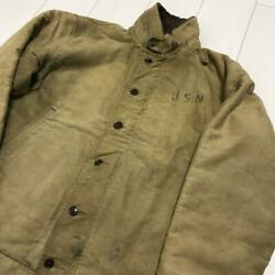 40and039s50and039s Vintage U.s. Military Real Stencil N 1 Deck Jacket Size L Outer