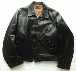 Taubers 40's Horsehide Riders Jacket Leather Jean Size M Vintage Outer