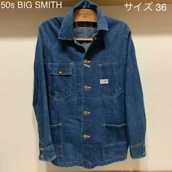 Vintage 50s Big Smith Coverall Size 36 S Denim Jacket Outer