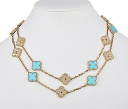 And Vintage Diamond / Turquoise 20 Motif Necklace