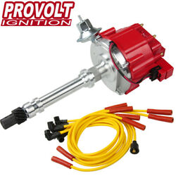Hei Distributor For Chevy Small Big Block W/ Spark Plug Wires Ignition Combo Kit