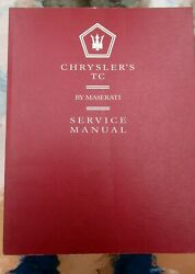 Chrysler Tc By Maserati Service Manual Supplement And Dealer Brochure