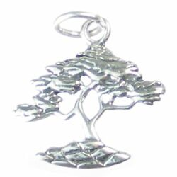 Cypress Tree Sterling Silver Charm .925 X 1 Cyprus Trees Cypresses Charms.