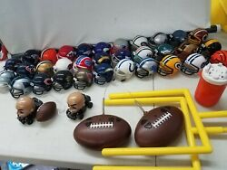 Nfl Mighty Helmet Racers Lot Of 32 Helmets And Racers With Accessories