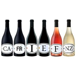Wines From Around The World - Six 750ml Bottles Of Locations Wine