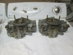 Rebuilt Holley 660 Cfm Center Squirter Tunnel Cross Ram Carburetors 4224 Dual