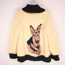 Authentic Old Clothes 70S Cowichan Sweater M Size Ivory F No.71502 $195.89