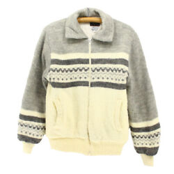 Old Clothes 70S Vintage Zip Wool Sweater Xs Size Present Gift Costume No.71503 $166.85