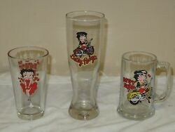 New 2004 Betty Boop Glasses Set Of 3