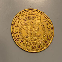 Vintage Collectible Readers Digest Lucky Sweepstakes Coin Token 100,000.00 Used