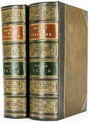 1859 Pictorial History Of Scotland Leather Bound By Brackett Illustrated 10tall