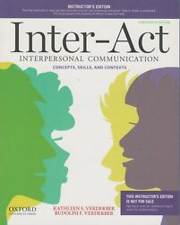 Inter-act Interpersonal Communication Concepts Skills Instructor Ed