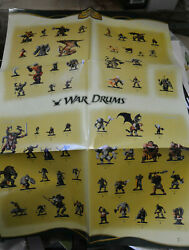 Dungeons And Dragons Dandd Miniatures War Drums 21 X 30 Promo Poster Nm Unused