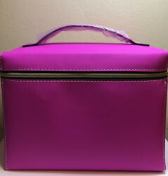 Estee Lauder Signature Cosmetic Bag Train Case Faux Leather PINK GWP NEW $7.95