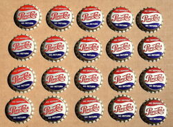 Group Of 20 1950and039s To 60and039s Pepsi Bottle Caps Nos