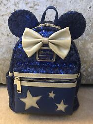 Loungefly Minnie Mouse Wishes Blue Mini Backpack Disney