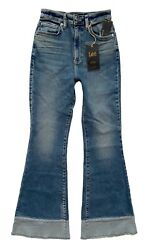 Lee Vintage Modern Nwt High Rise Canyon Fade Flare Frayed Jeans 3534788