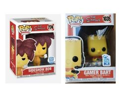 Funko Pop Simpsons Lot Sideshow Bob And Gamer Bart Preorder