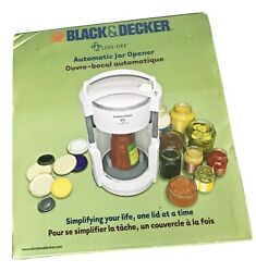 Black And Decker Jw200 Lids Off Jar Opener, White New In The Box