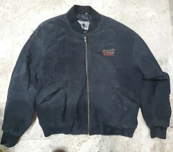 Vintage 1980's Budweiser Clydesdales Leather Jacket Men's Size Large Only One