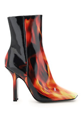 New Vetements Flames Print Boomerang Boots Wah21bo201 2459 Vernis Flames Authent