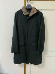 Raf Simons Chester Coat Outer Jacket Men's Size L Clothes Back Logo Hooded