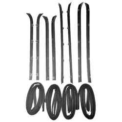 Sweep Belt And Glass Run Window Channel 12 Pc Kit For 81-86 Chevy Pickup Suburban