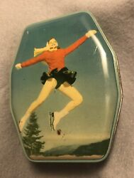 Rare Vintage Boy Blue Assortment Of Toffees Ice Skating George W Horner And Co Tin