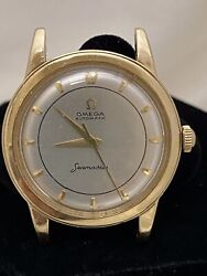 Vintage 1960andrsquos Omega 14k Yellow Gold Automatic Seamaster Bumper Movement Watch