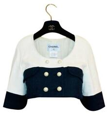 Cropped Pearl Button Jacket