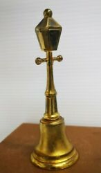 Brass Lamp Post Bell Numbered On Inside On Bell. Gift