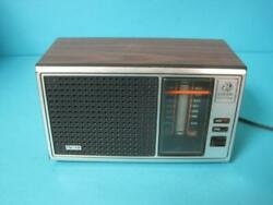 Awesome Vintage Ge General Electric Am/fm Radio Model 7-4115a Wood Grain Finish