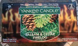 4 Pack Fire Logs Yankee Candle Balsam And Cedar Fireplace Wood Burning