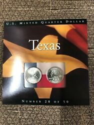 2004 Texas State Quarter Set Uncirculated Sealed Information Card Pandd
