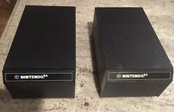 Pair of 2 Wood Nintendo 64 N64 12 Game Holder Storage Carts Drawers Cabinets