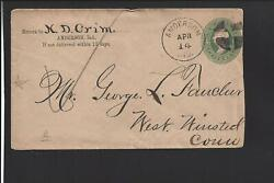 Anderson,indiana. 3ct Cover,fancy Cancel. Franklin Co Dpo. 1828/1904,sr/4.