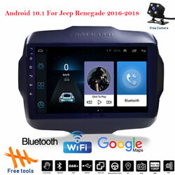 9 Android 10.1 Car Radio Stereo Wifi Gps Dvd Player For Jeep Renegade 2016-2018