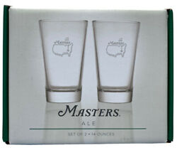 2021 Masters Ale Glass Set Of 2 Augusta National 14oz Glasses New