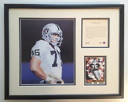 Rare Howie Long Oakland/la Raiders 1993 Nfl Hall Of Fame Framed Art And Photograph