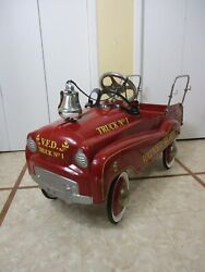 Gearbox Pedal Car For Volunteer Fire Dept Pedal Car Truck No.1 W/bell And Hubcaps