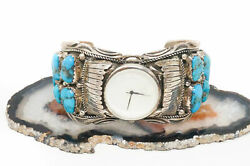 Vintage Native American Mary Thomas Richard T Thomas Turquoise Sterling Watch