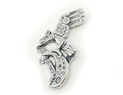 Vintage Eagle Fish Pacific Northwest Sterling Silver Necklace Pendant