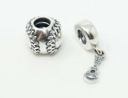 Authentic Pandora Ale Baseball Guitar Hobby Sterling Silver Charms Set