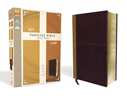 Kjv, Amplified, Parallel Bible, Large Print, Leathersoft, Tan/burgundy, Red Two