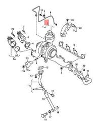 Genuine Vw Skoda Audi Seat Golf Exhaust Manifold With Turbocharger 03l253056cx