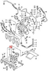 Genuine Vw Audi Seat Exhaust Manifold With Turbocharger 03g253016qx